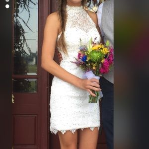 White Homecoming dress